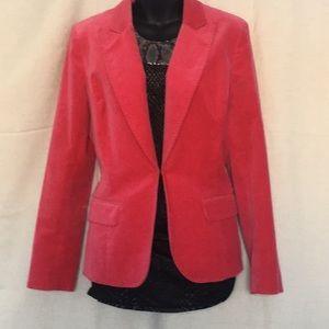 Kenneth Cole hot pink velvet blazer size 12